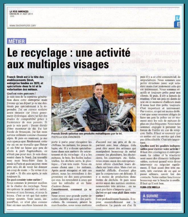 Article LA Voix Annonce page suivante